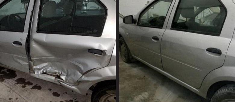 Фото ремонта двери до и после
