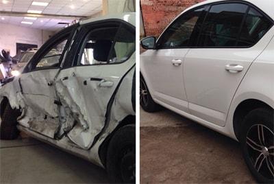 Фото ремонта автомобильной двери