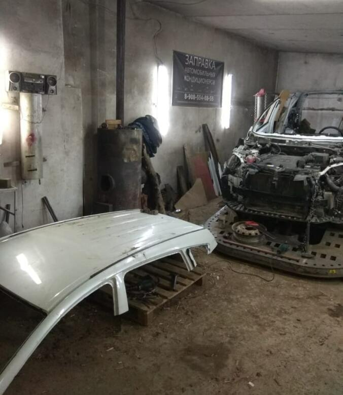 фото процесс ремонта кузова авто